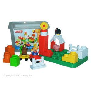 Tub of Plastic Building Blocks