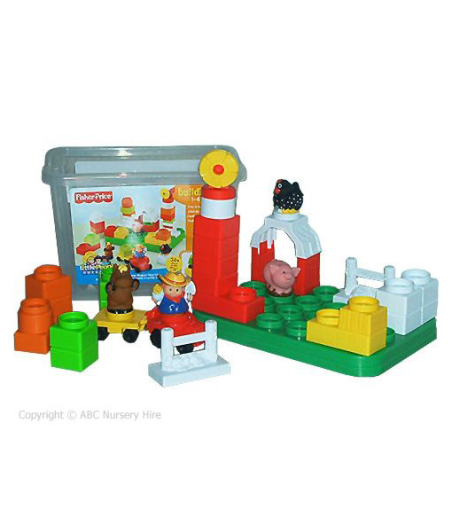 Tub of plastic building blocks all baby hire gold coast for Plastic building blocks home construction